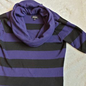 Express Short-Sleeved Cowl Neck Sweater, Size M